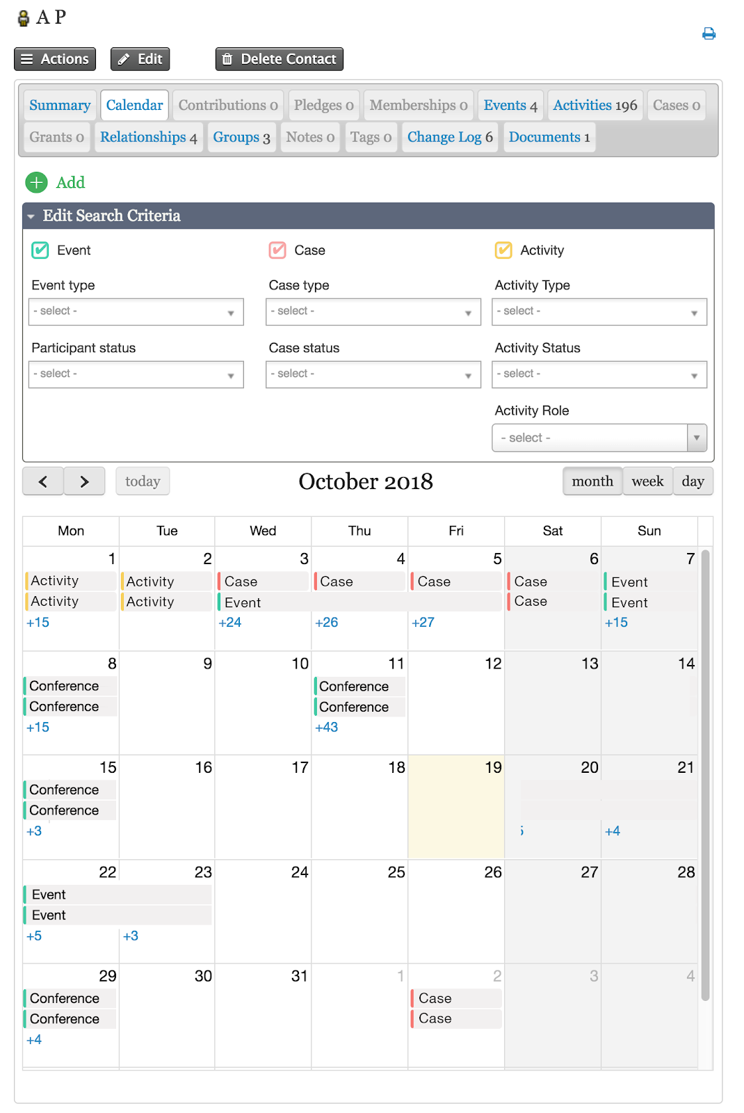 Wider Filter Options in CiviCalendar